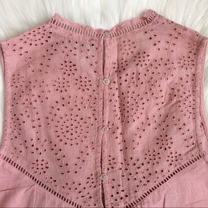 Abercrombie & Fitch Tops - Split Back Eyelet Top